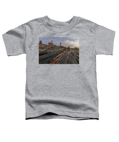 Pemaquid Point Cliffs Toddler T-Shirt