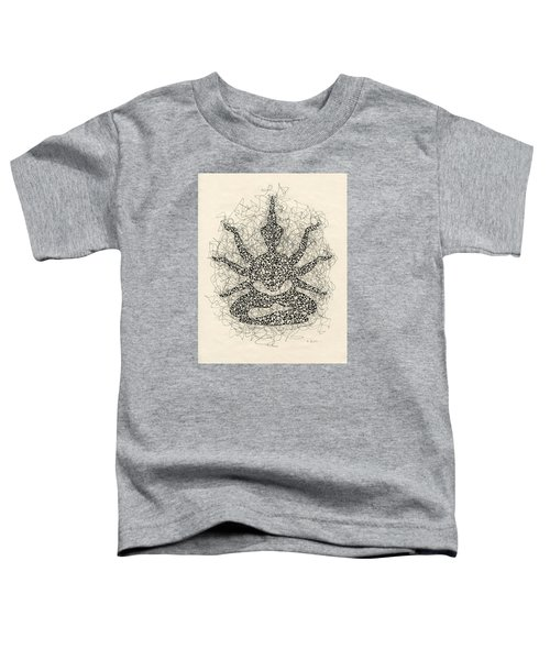 Pen And Ink Drawing Buddha  Toddler T-Shirt