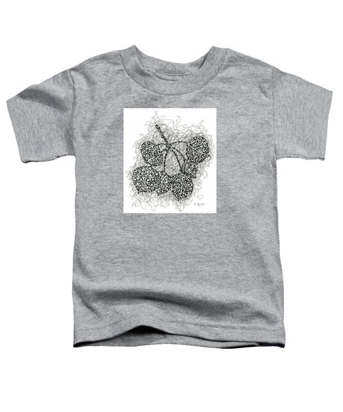 Pen And Ink Drawing Of Aspen Leaves Toddler T-Shirt