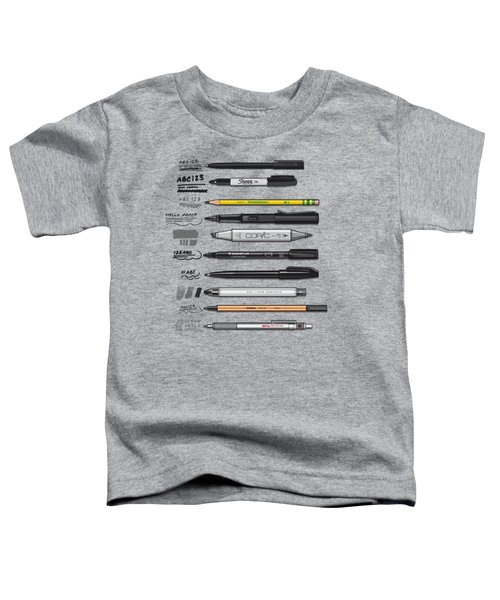 Pen Collection For Sketching And Drawing Toddler T-Shirt