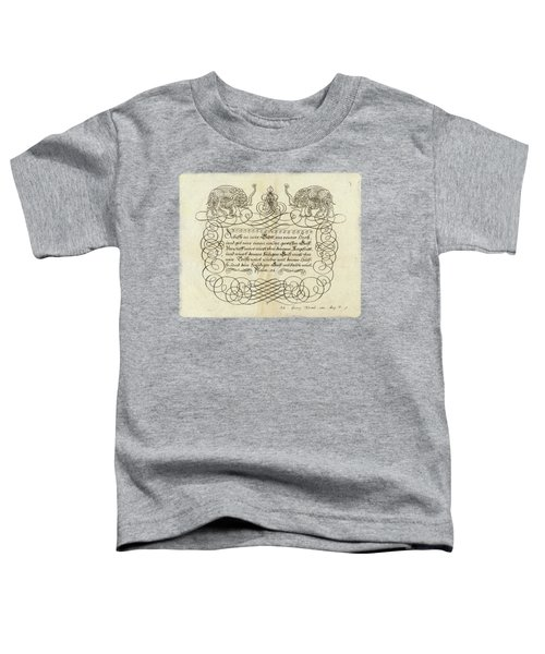 Penmanship - Drawing By Johann Georg Hertel Toddler T-Shirt