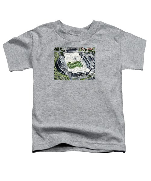 Penn State Beaver Stadium Whiteout Game University Psu Nittany Lions Joe Paterno Toddler T-Shirt by Laura Row