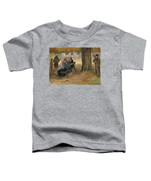 People Sitting On A Bench In Bezuidenhout. The Hague Toddler T-Shirt