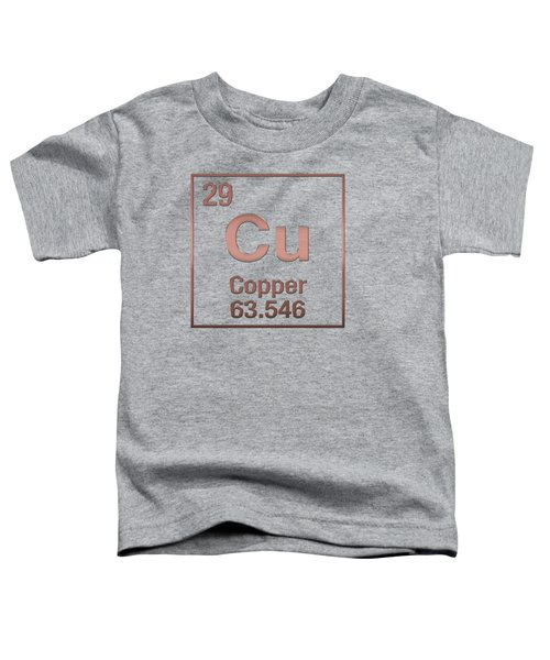 Periodic Table Of Elements - Copper - Cu - Copper On Copper Toddler T-Shirt