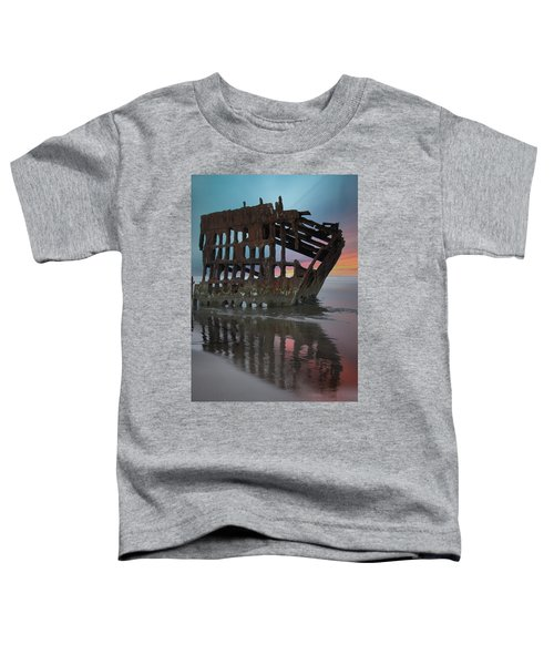 Peter Iredale Shipwreck At Sunrise Toddler T-Shirt