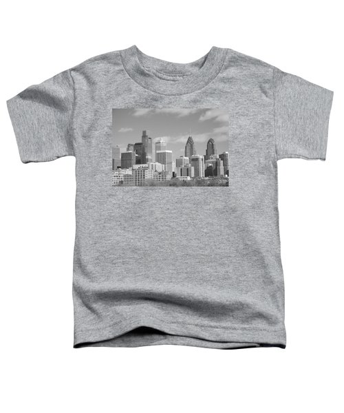 Philly Skyscrapers Black And White Toddler T-Shirt