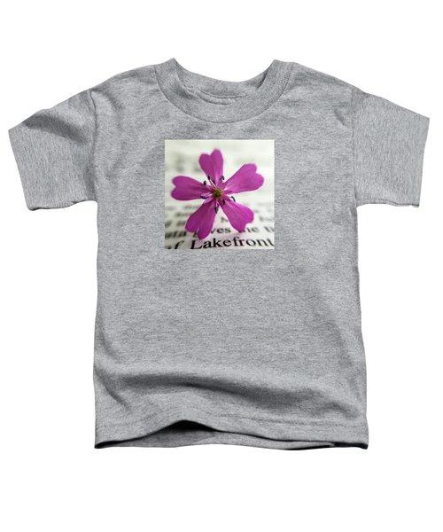 Phlox Print Toddler T-Shirt
