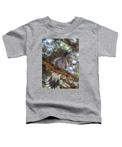 Pied Currawong Chick 1 Toddler T-Shirt