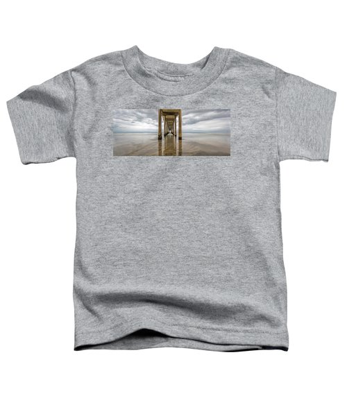 Toddler T-Shirt featuring the photograph Pier Review by Dustin  LeFevre
