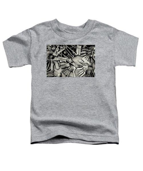 Piles Of Blank Keys In Monochrome Toddler T-Shirt