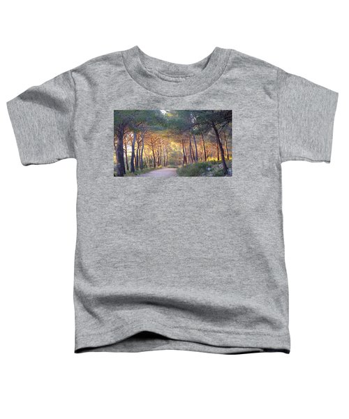 Pine Forest At Sunset Toddler T-Shirt
