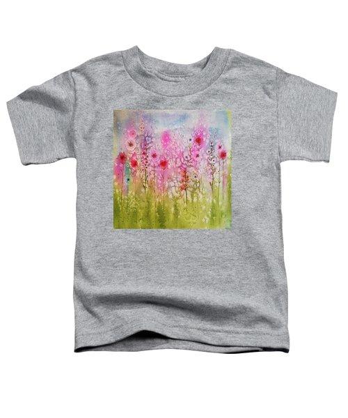 Pink Abstract Toddler T-Shirt
