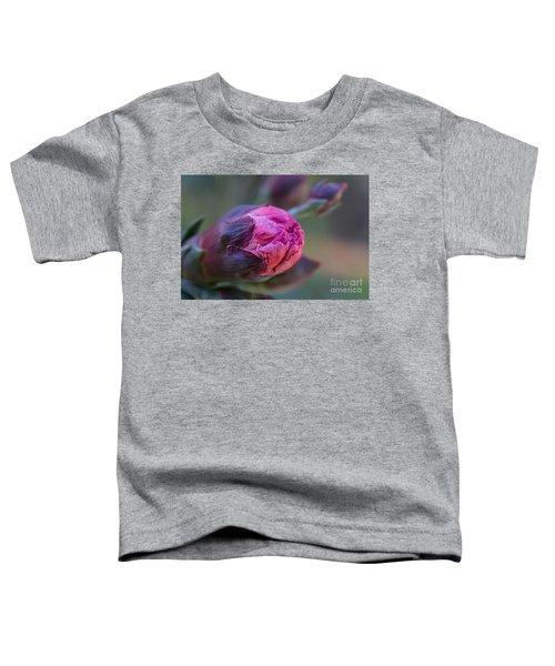 Pink Carnation Bud Close-up Toddler T-Shirt