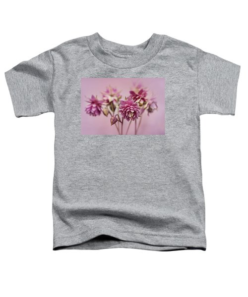 Toddler T-Shirt featuring the photograph Pink Columbines by Jaroslaw Blaminsky