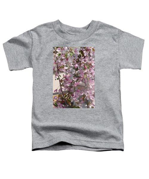 Pink Crabapple Branch Toddler T-Shirt