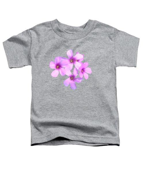 Pink Cutout Flowers Toddler T-Shirt