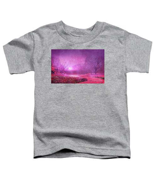 Toddler T-Shirt featuring the painting Pink Landscape by Tithi Luadthong