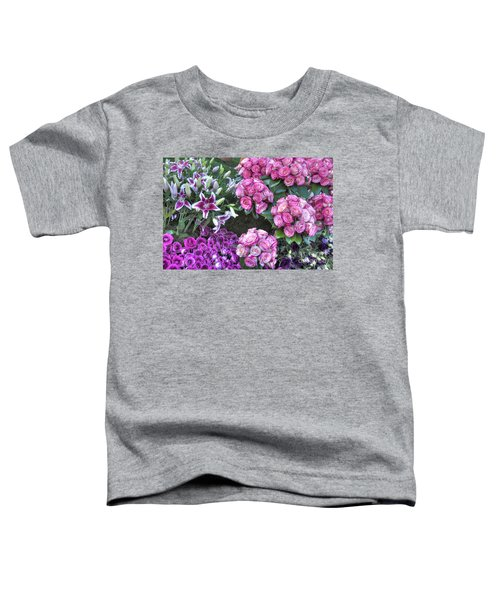 Pink, Purple And Lillies Toddler T-Shirt