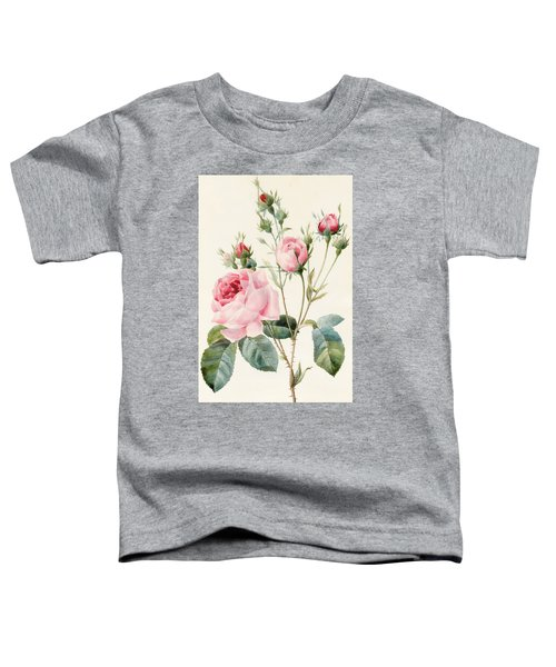 Pink Rose And Buds Toddler T-Shirt