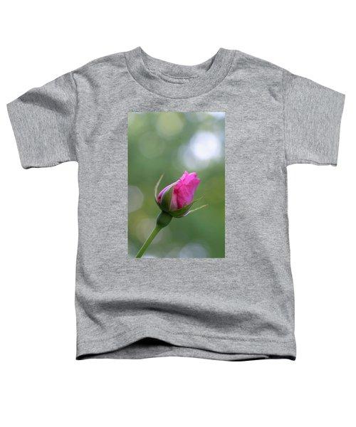 Pink Rose Bud Toddler T-Shirt