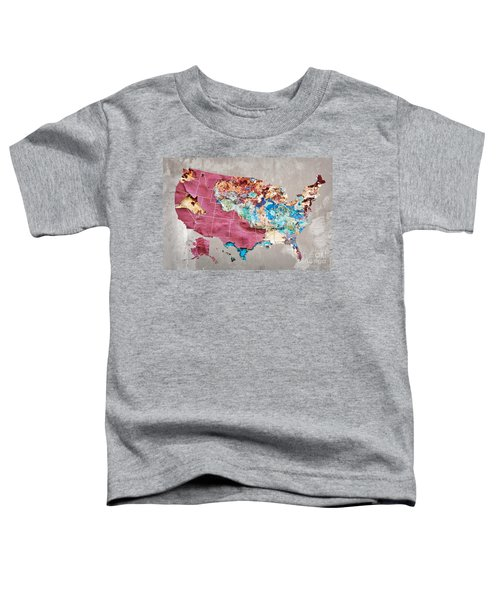 Pink Street Art Us Map Toddler T-Shirt