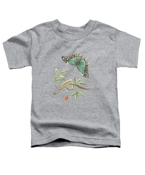 Plant With Leaves And Flower Caterpillar And Butterfly By Cornelis Markee 1763 Toddler T-Shirt