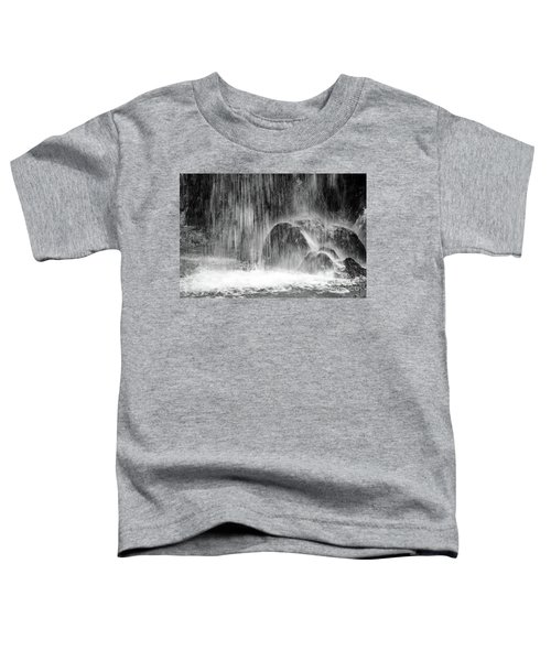 Plitvice Waterfall Black And White Closeup - Plitivice Lakes National Park, Croatia Toddler T-Shirt
