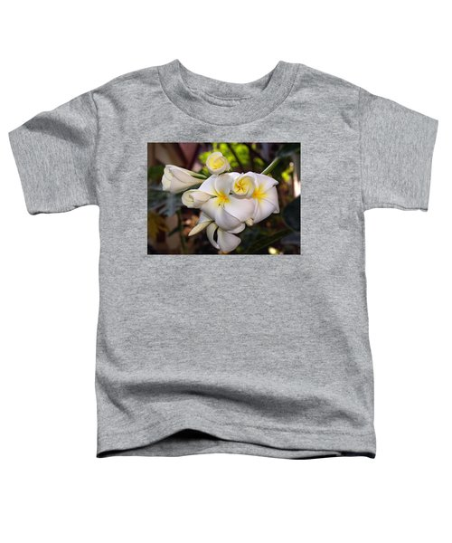 Plumeria Portrait Toddler T-Shirt