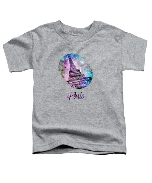 Pop Art Eiffel Tower Graphic Style Toddler T-Shirt