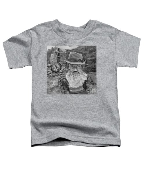 Popcorn Sutton - Black And White - Rocket Fuel Toddler T-Shirt