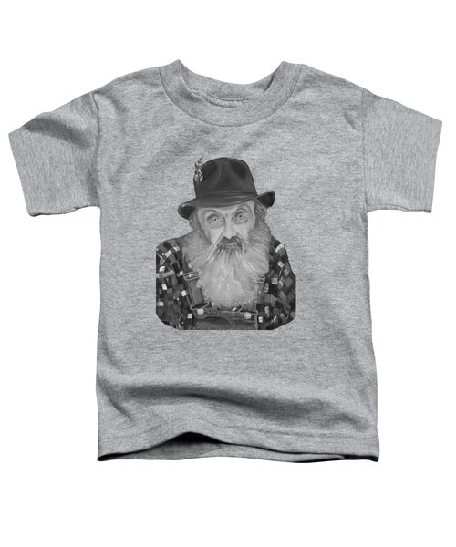 Popcorn Sutton Moonshiner Bust - T-shirt Transparent B And  W Toddler T-Shirt