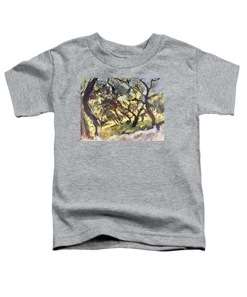 Popping Sunlight Through The Olive Grove Toddler T-Shirt