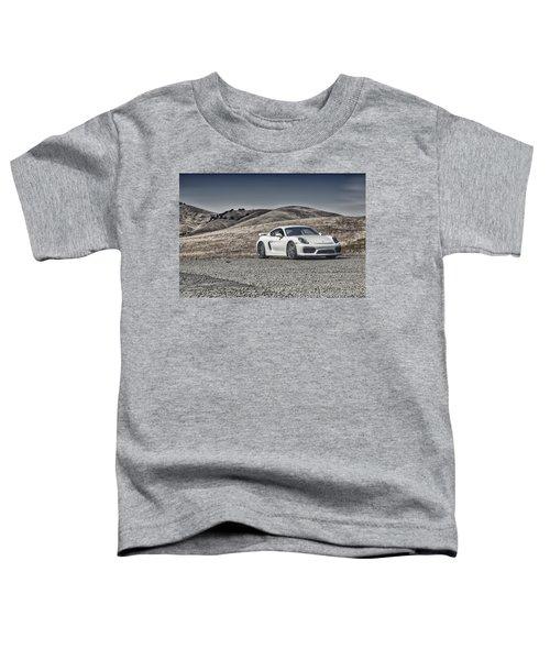 Porsche Cayman Gt4 In The Wild Toddler T-Shirt