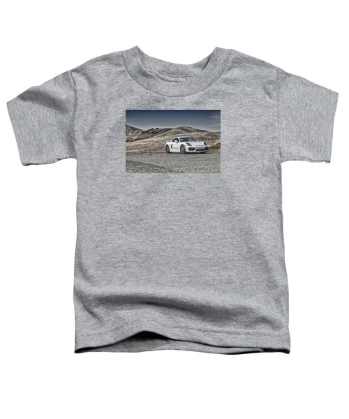 Porsche Cayman Gt4 In The Wild Toddler T-Shirt