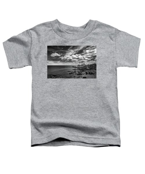 Portland Head Light In Black And White Toddler T-Shirt