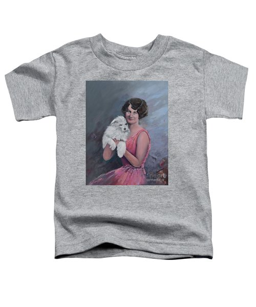 Maggie And Caruso -portrait Of A Flapper Girl Toddler T-Shirt
