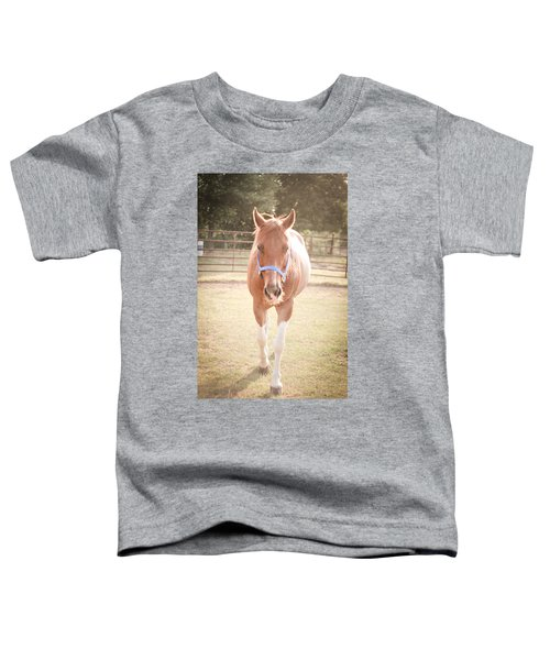 Portrait Of A Light Brown Horse In A Pasture Toddler T-Shirt
