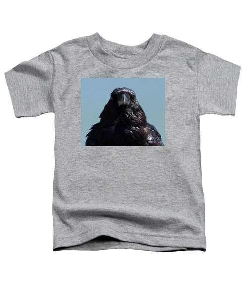 Portrait Of A Raven Toddler T-Shirt