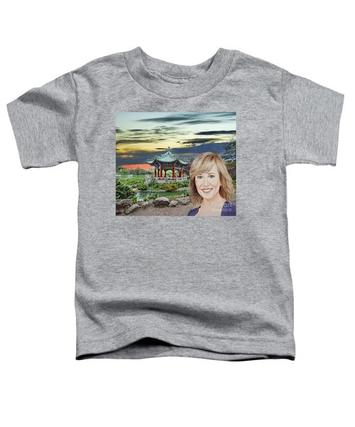 Portrait Of Jamie Colby By The Pagoda In Golden Gate Park Toddler T-Shirt by Jim Fitzpatrick