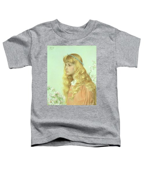 Portrait Of Miss Adele Donaldson, 1897 Toddler T-Shirt by Anthony Frederick Augustus Sandys