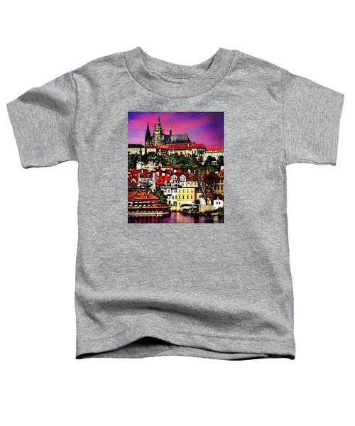 River Front Dining In Prague  Toddler T-Shirt