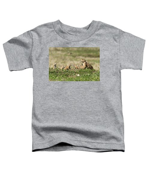 Toddler T-Shirt featuring the photograph Prairie Dog Family 7270 by Donald Brown