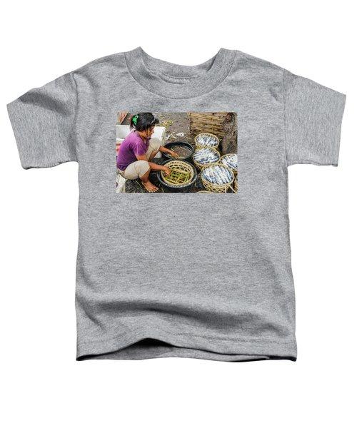 Preparing Pindang Tongkol Toddler T-Shirt by Werner Padarin