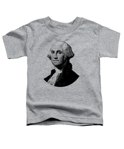 President George Washington Graphic - Black And White Toddler T-Shirt by War Is Hell Store