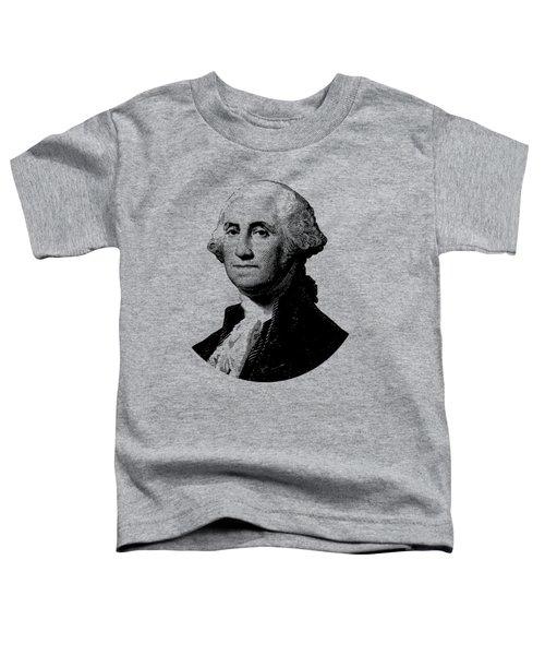 President George Washington Graphic - Black And White Toddler T-Shirt