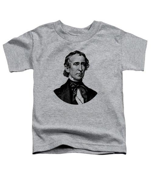 President John Tyler Graphic - Black And White Toddler T-Shirt