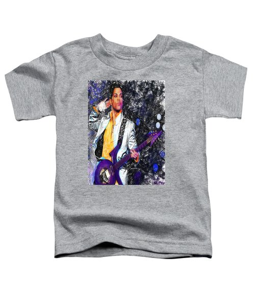 Prince - Tribute With Guitar Toddler T-Shirt