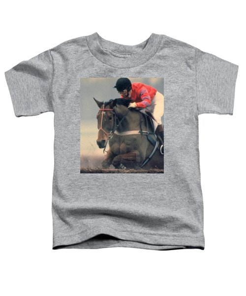 Toddler T-Shirt featuring the photograph Princess Anne Riding Cnoc Na Cuille At Kempten Park by Travel Pics