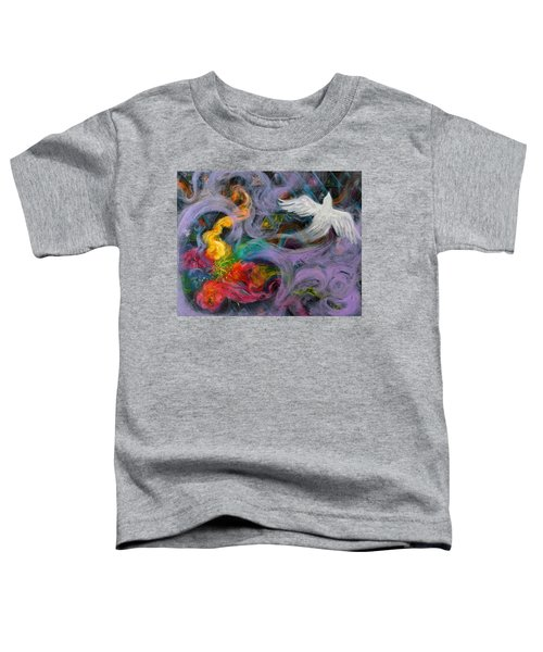 Prophetic Message Sketch Painting 10 Divine Pattern Dove Toddler T-Shirt