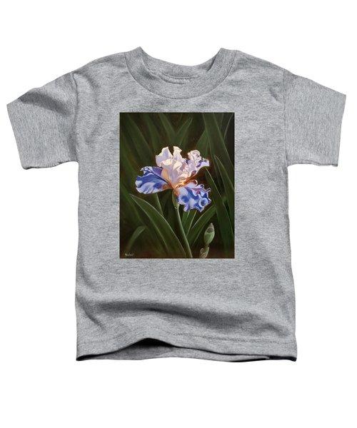 Purple And White Iris Toddler T-Shirt